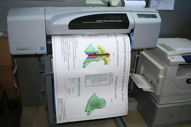 Фото плоттера для печати чертежей в Березниках